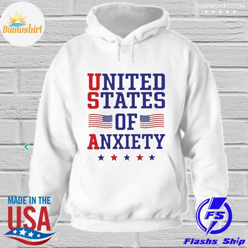 Official United states of anxiety American flag hoodied