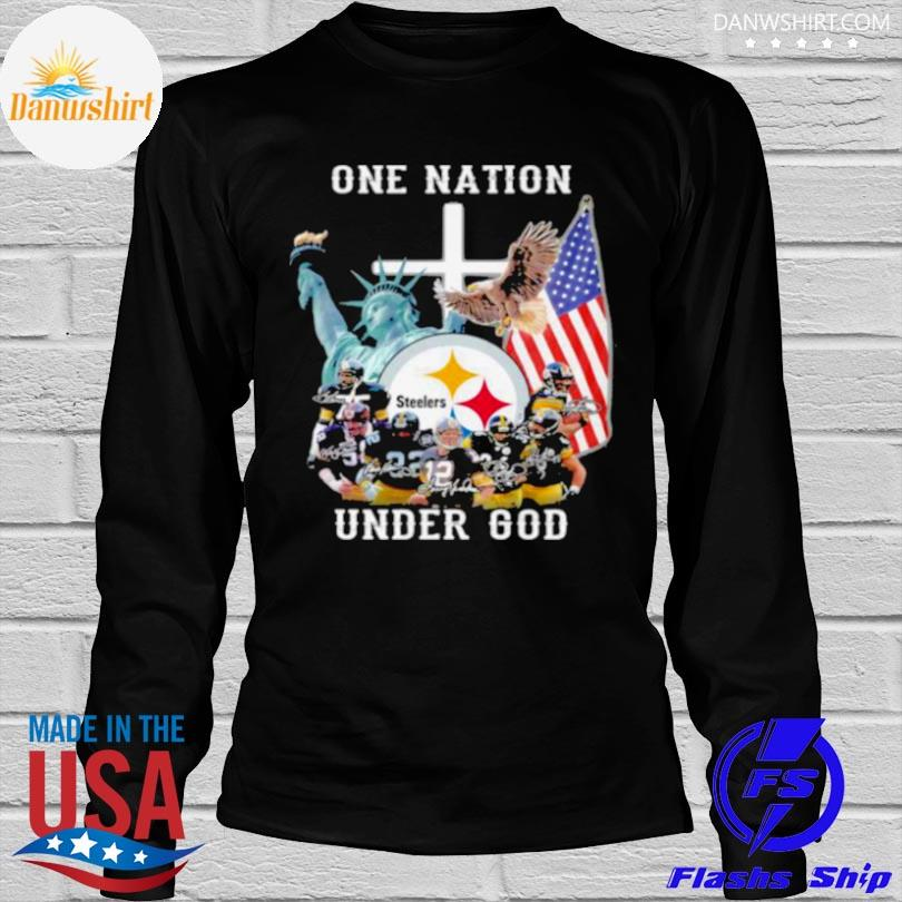 One nation under god Pittsburgh steelers shirt