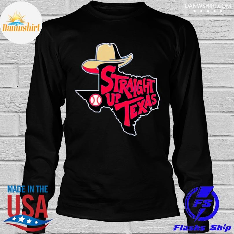 Straight up Texas baseball shirt