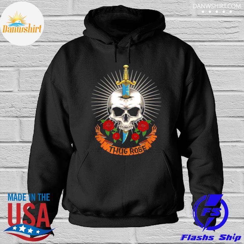 Thug rose skull logo Hoodied