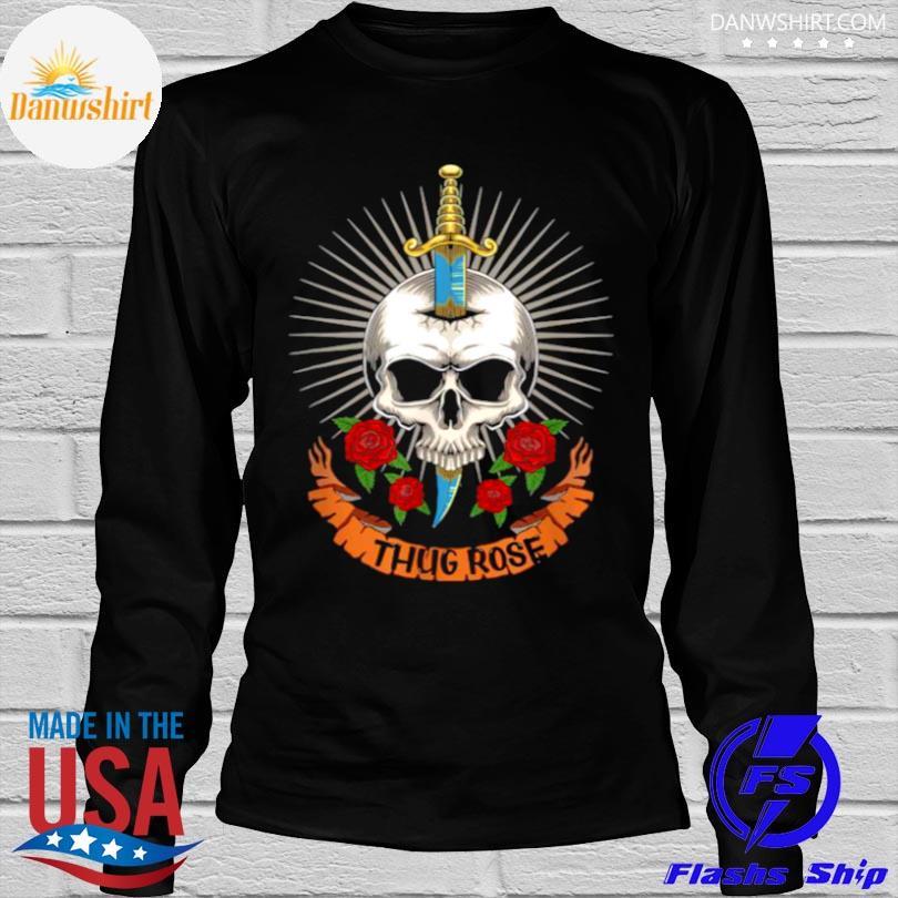 Thug rose skull logo shirt