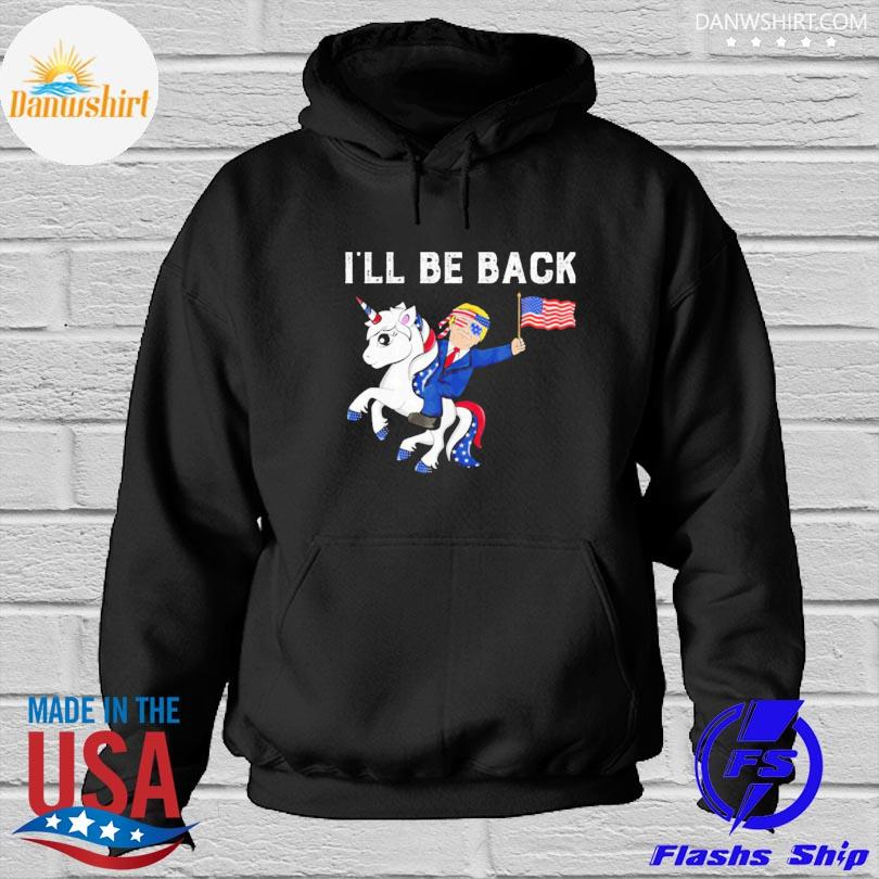 Unicon Donald Trump I'll be back American flag Hoodied