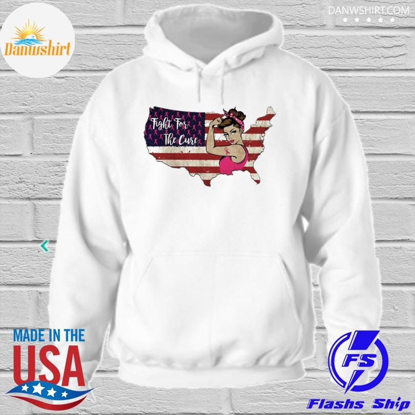 Fight for the cure American flag s hoodied