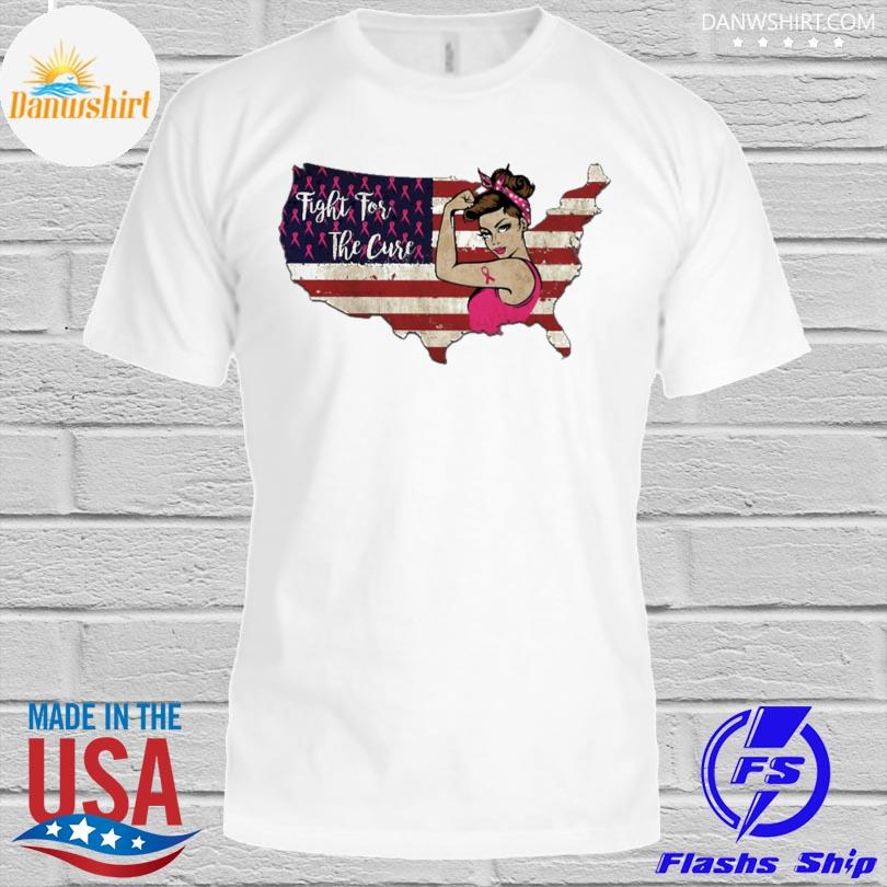 Fight for the cure American flag shirt