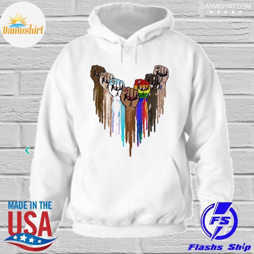 LGBT pride heart hands s hoodied