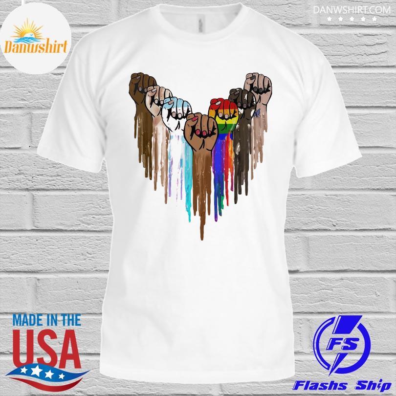 LGBT pride heart hands shirt