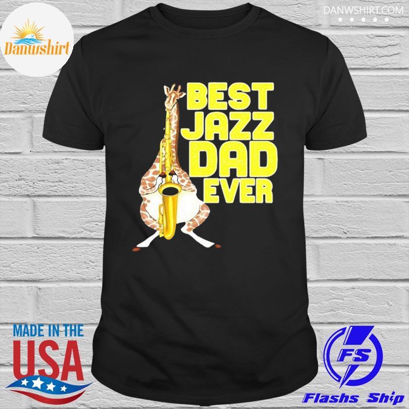 Merchpole best jazz dad saxophone fathers day shirt