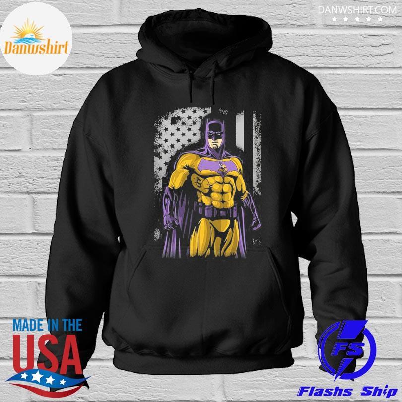Minnesota Vikings Batman Flag Dc Marvel Jersey Superhero Avenger s Hoodied