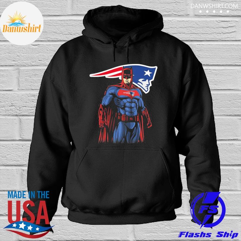 New England Patriots Batman Dc Marvel Jersey Superhero Avenger s Hoodied