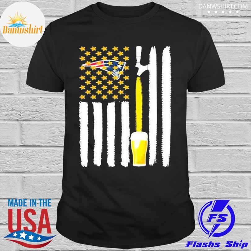 New England Patriots Beer American Flag Shirt