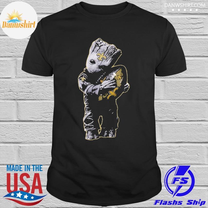 New Orleans Saints Baby Groot Hug New Orleans Saints Football Nfl shirt