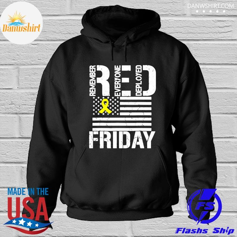 Official American flag red remember everyone deployed friday s Hoodied