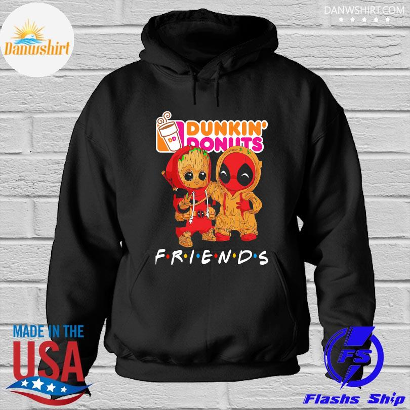 Official Baby Groot and baby Spiderman Dunkin' Donuts Friends s Hoodied