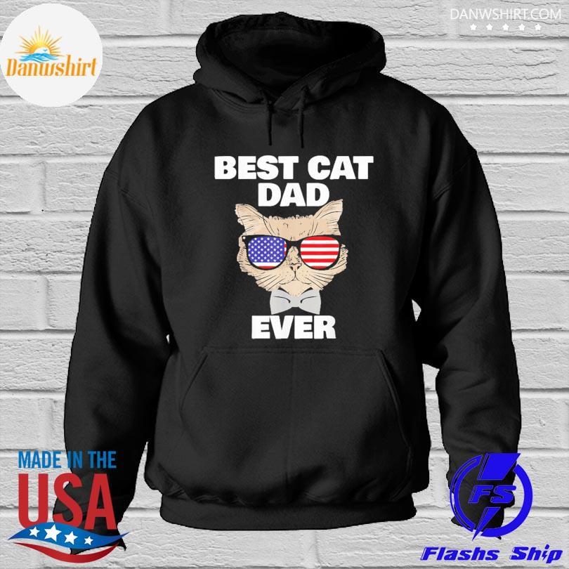 Official Best cat dad fathers day daddy papa cat with sunglasses s Hoodied