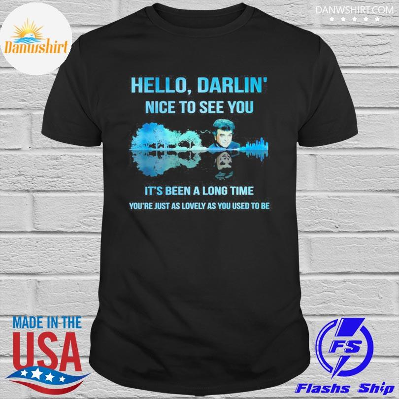 Official Conway twitty hello darlin' nice to see you guitar lake shirt
