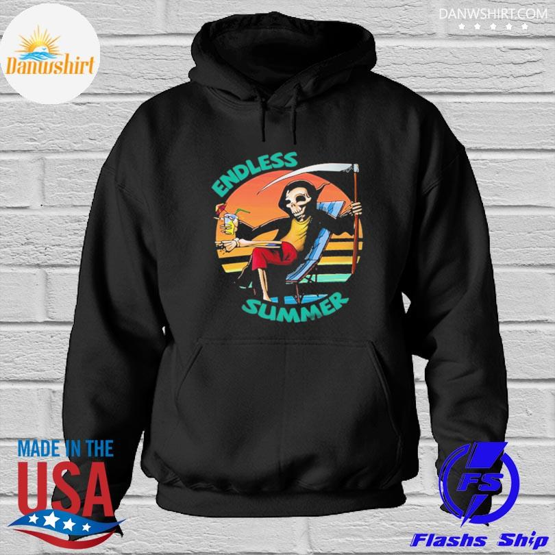 Official Death beach endless summer vacation vintage s Hoodied