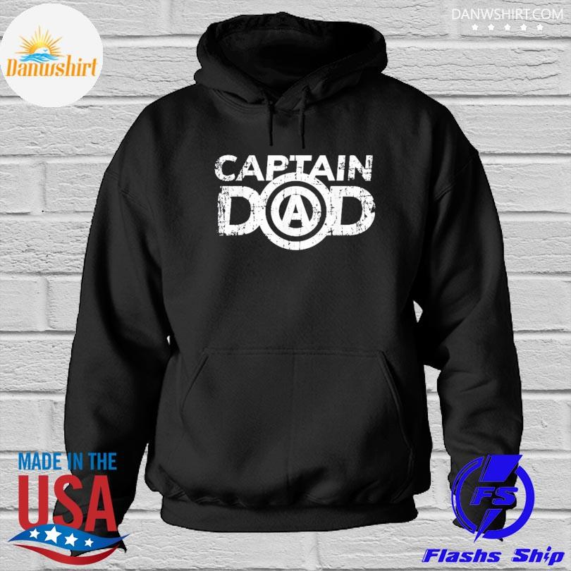 Official Distressed father's day dad's birthday gift captain dad s Hoodied