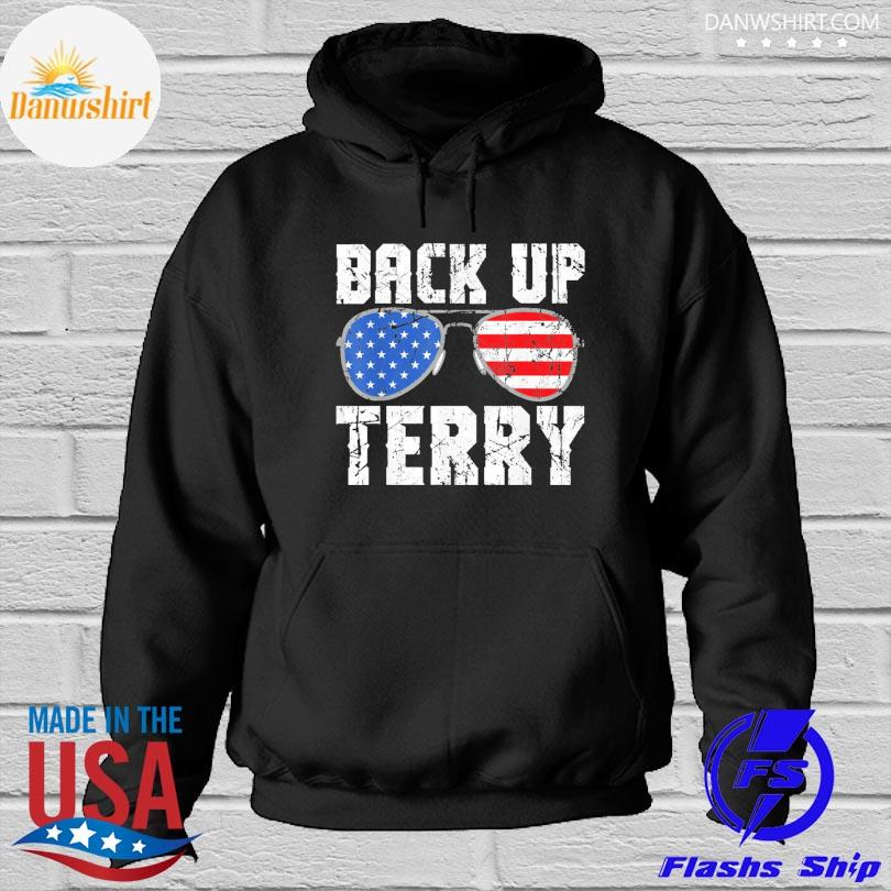 Official Glasses American flag back it up terry s Hoodied