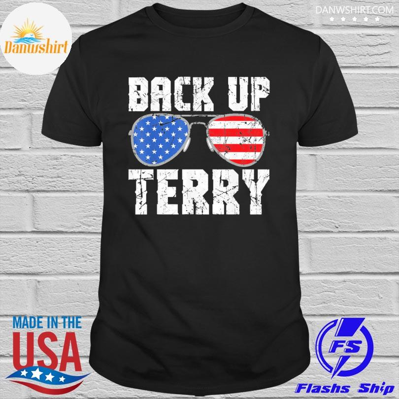 Official Glasses American flag back it up terry shirt