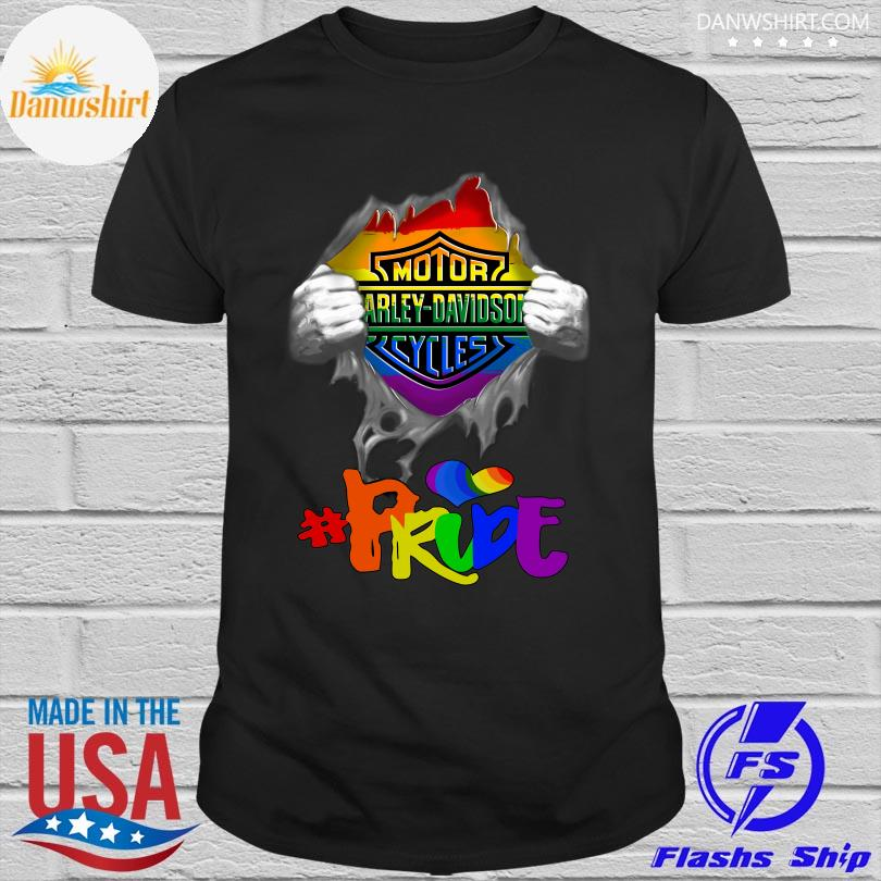 Official LGBT blood Harley Davidson Pride shirt