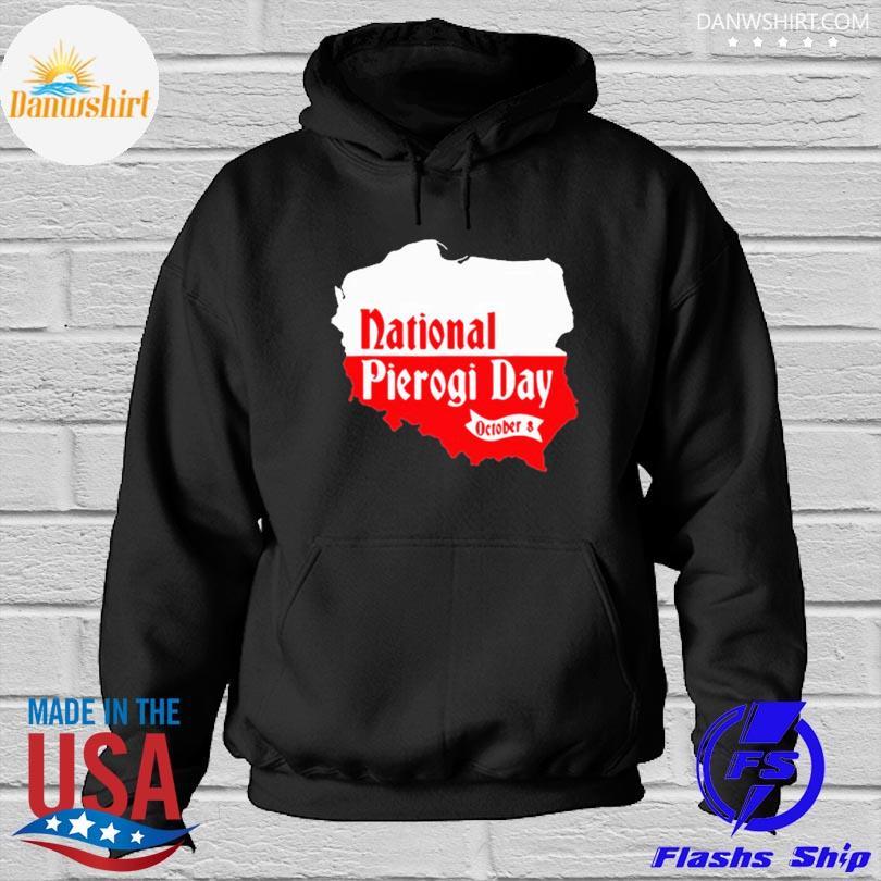 Official National pierogi day novelty polish dumpling foodie s Hoodied