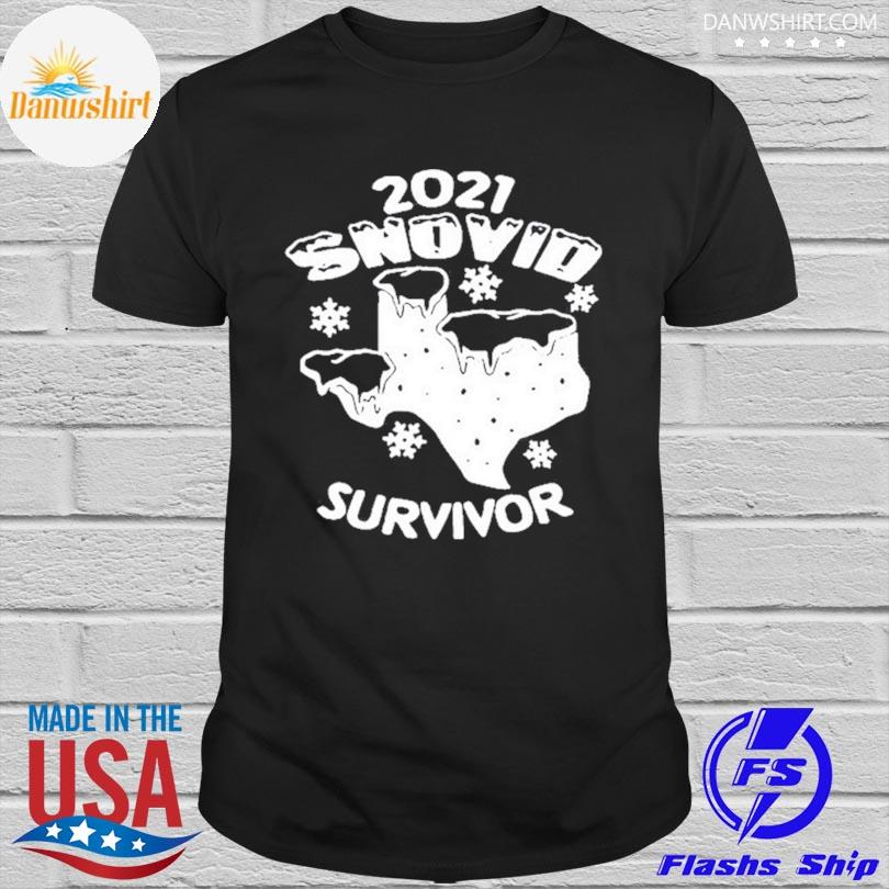 Official Snovid 2021 Texas survived shirt