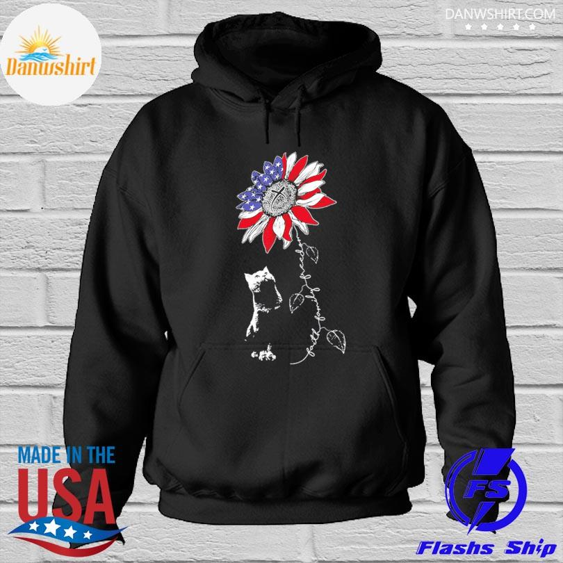 Official Sunflower 4th of july patriotic faith family freedom s Hoodied