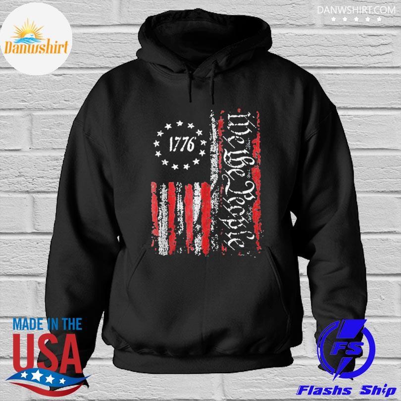 Official Vintage old American flag patriotic 1776 we the people s Hoodied