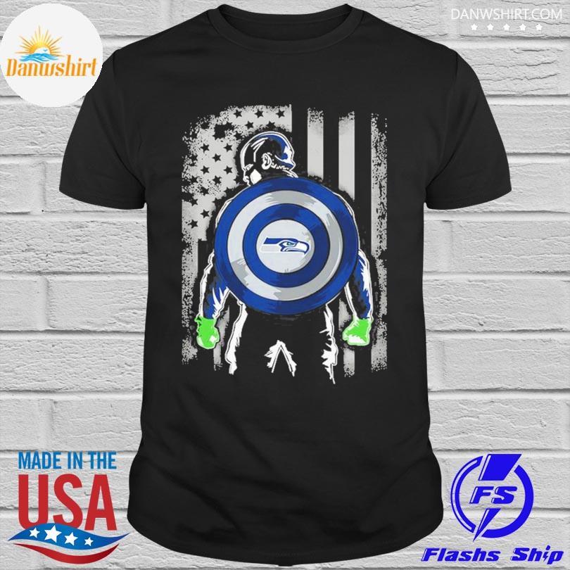 Seattle Seahawks Captain Dc Marvel Jersey Superhero Avenger shirt