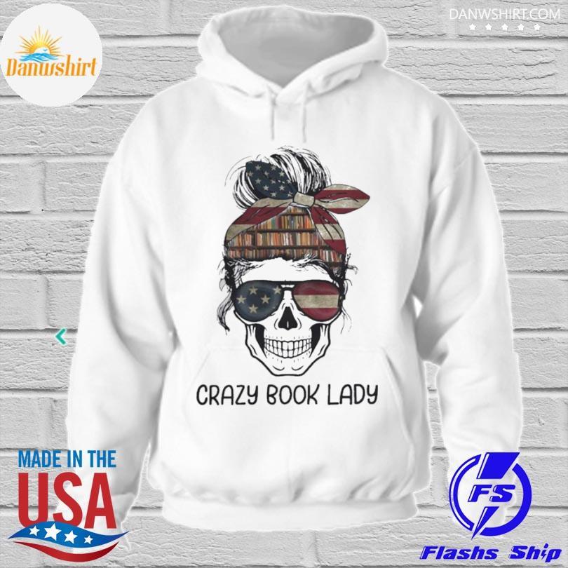 Skull girl crazy book crazy s hoodied