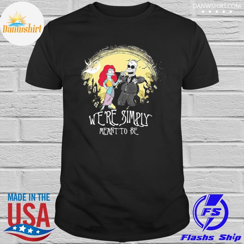 Jack and Sally we are simply meant to be Halloween shirt