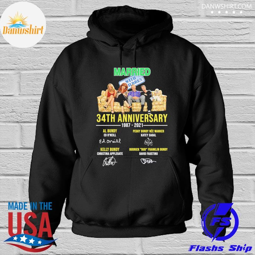 Official Married With Children 34th anniversary 1987 2021 signatures s Hoodied