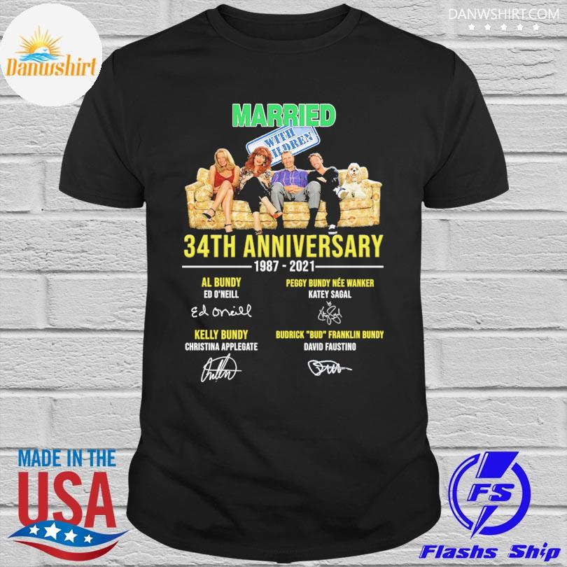 Official Married With Children 34th anniversary 1987 2021 signatures shirt