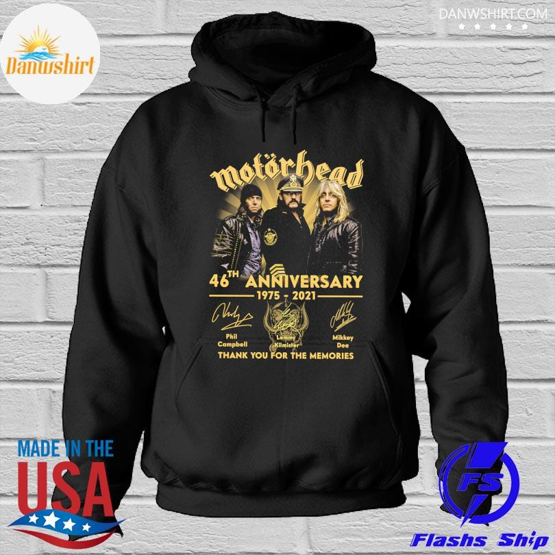 Official Motor Bead 46th anniversary 1975 2021 thank you for the memories signatures s Hoodied