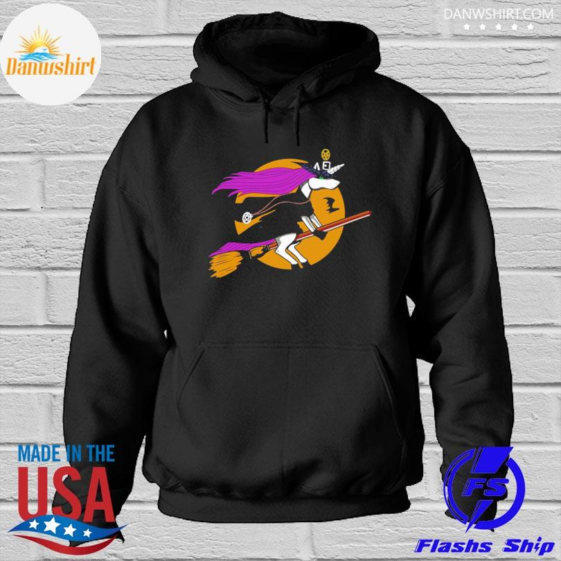 Official Unicorn Witch Halloween s Hoodied