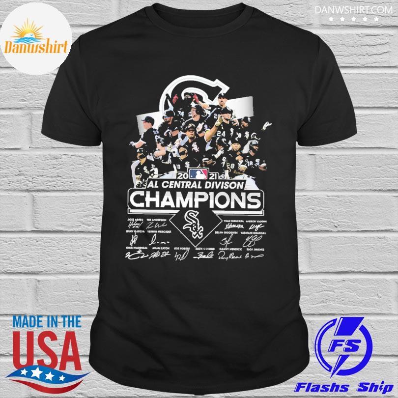 Chicago White Sox 2021 al central division Champions signatures shirt
