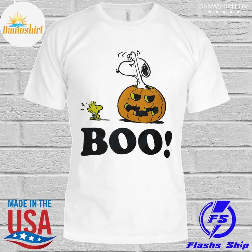 Snoopy and Woodstock Pumpkin Halloween shirt